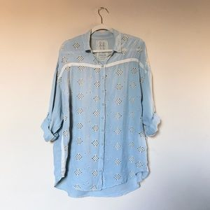 Johnny Was | Silk Button Down Eyelet Tunic